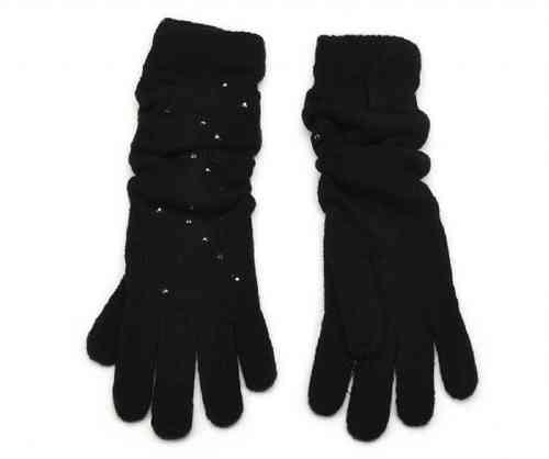schwarze Damen Handschuhe