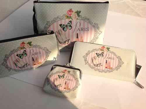 Portemonnaie Vintage-Druck