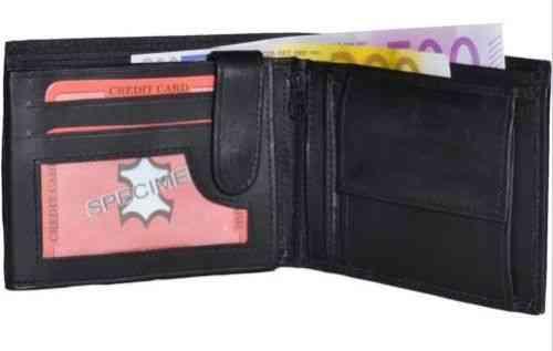 Portemonnaie schwarz/braun