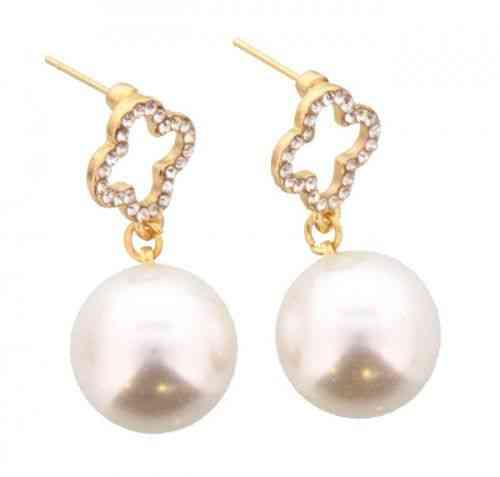 Ohrringe Perlen vergoldet