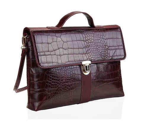 Rote Handtasche Krokodiloptik