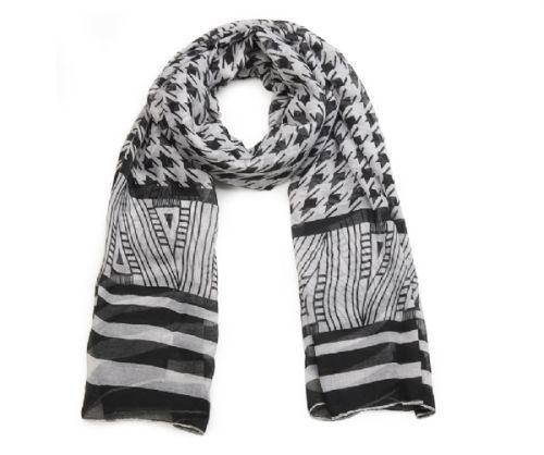 Schal schwarz/weiß