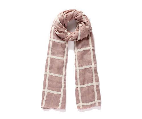 Schal rosa weiß