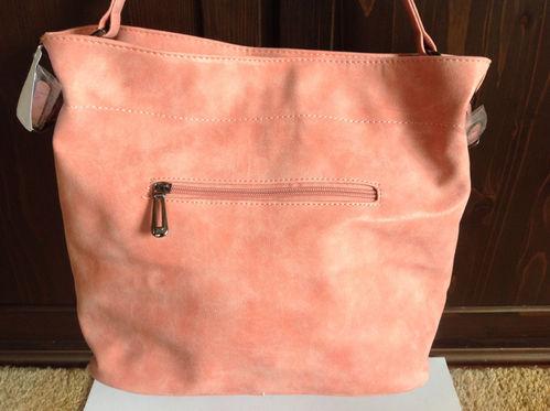 Große rosa Handtasche