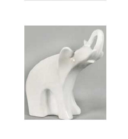 Keramik Elefant weiß