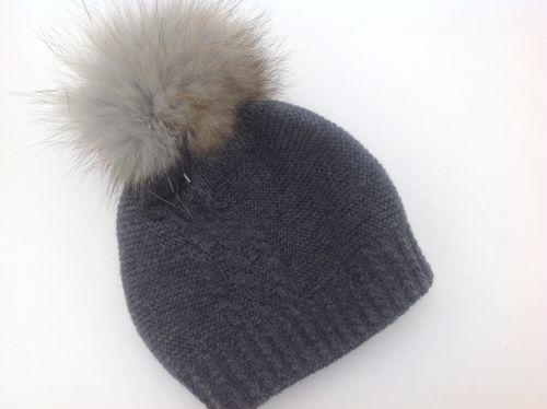 Strick Mütze grau