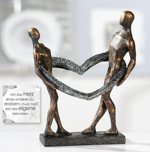 Skulptur Zusammnehalt Connected