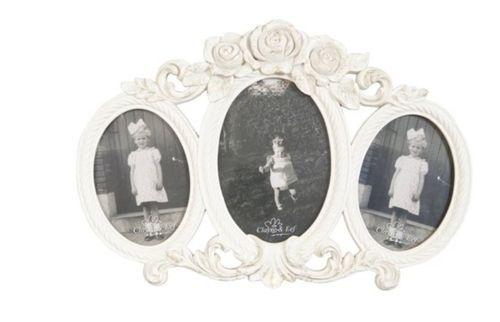 3er Fotorahmen vintage weiß