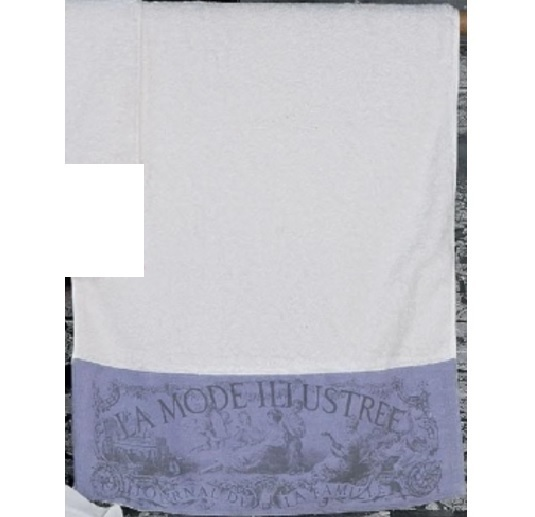Handtuch wei lila toile de jouy 50 x 100cm hoff interieur for Hoff interieur shop
