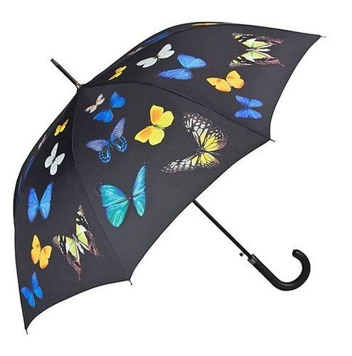 Stockschirm Schmetterling schwarz