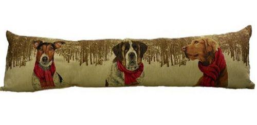 Zugluftstopper Hund mit Schal