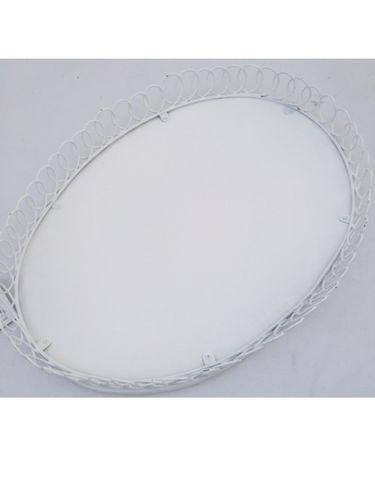 Holz Tablett oval