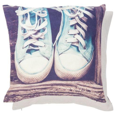 Kissenhülle blaue Schuhe