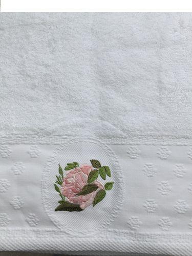 Handtuch Rosen bestickt