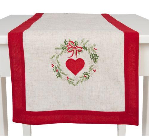 weihnachtlicher Tischläufer Herz