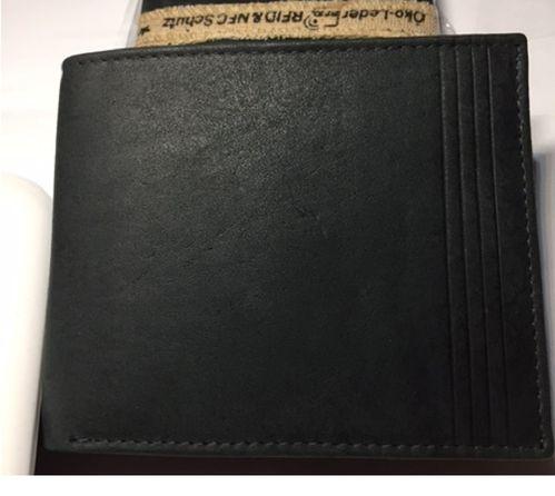 Leder Geldbörse RFID grau