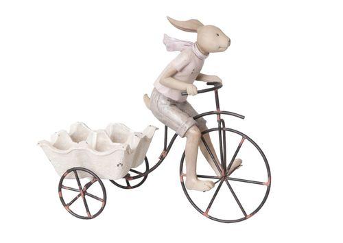 Osterhase Fahrrad Vintage 26x24 cm