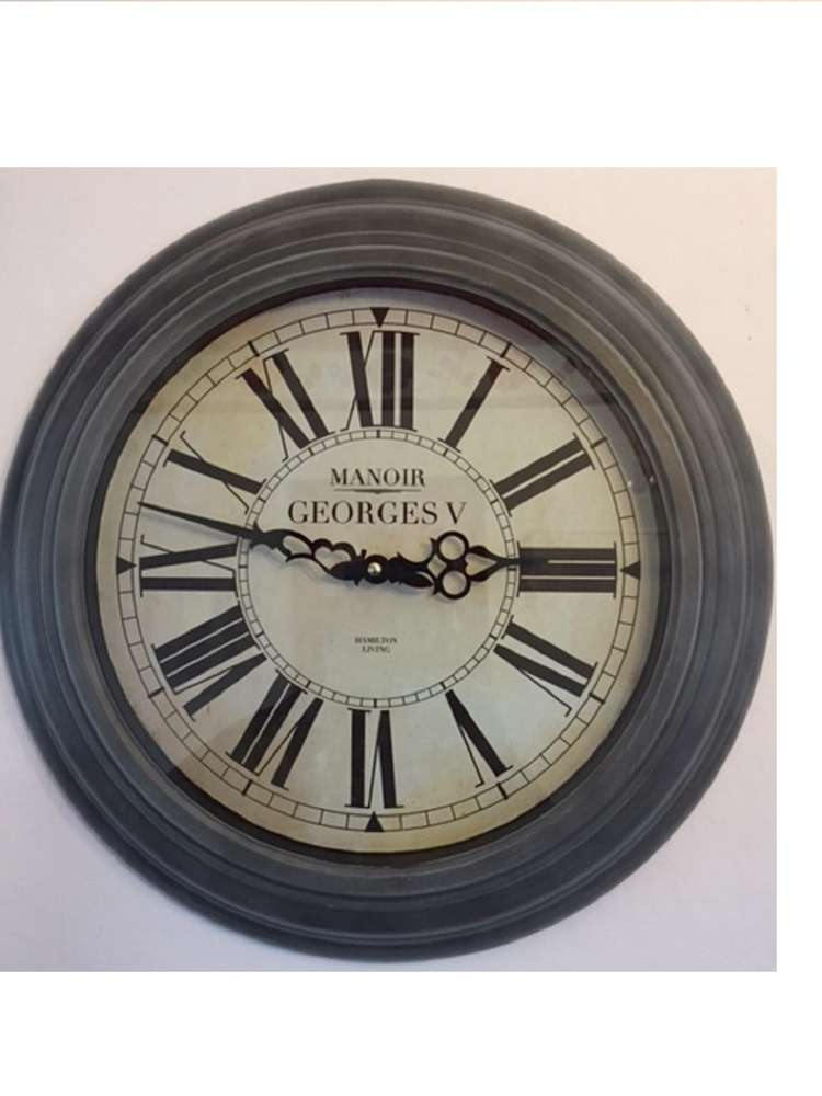 Buy Wall Clock Round Grau1 Dekoik Online Shop