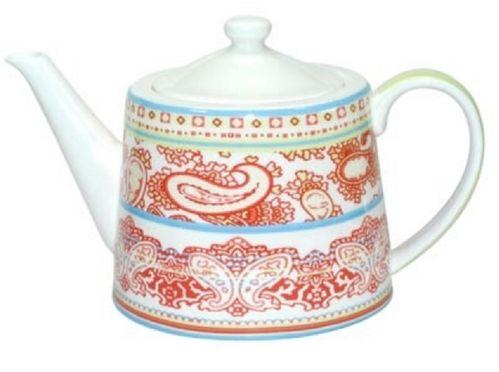 große Teekanne rot