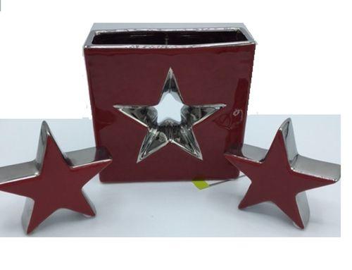 Sternen Set 3tlg. rot