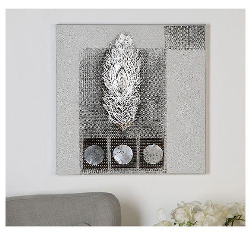 Wandbild Spirit 50x50 cm silber