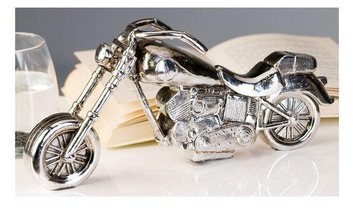 Motorrad silber 31 cm