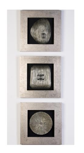 Wandbild Versity 45x45cm silber