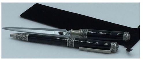 Schreibset Perlmut schwarz