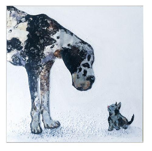 Wandbild Cat & Dog 100x100 cm