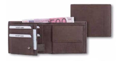 Leder Geldbörse RFID braun