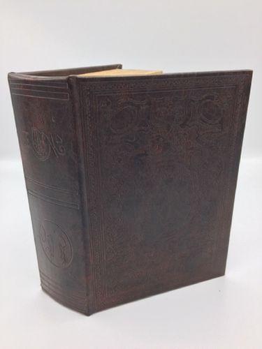 Buch Attrappe braun