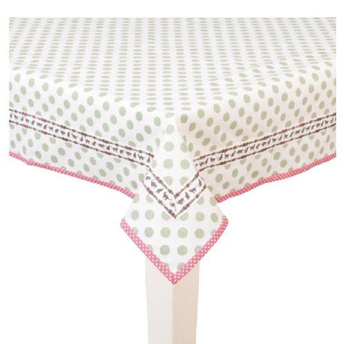 Tischdecke grüne Punkte 130x180 cm