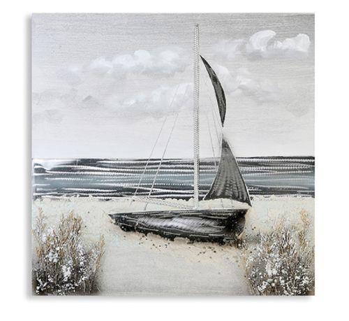Wandbild Strand 80x80 cm