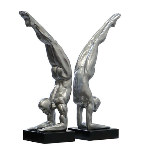 Skulptur Power platin