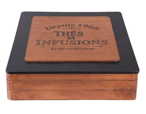 Holz Teebox braun