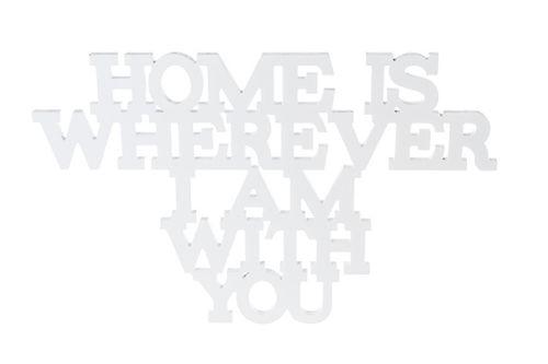 schriftzug HOME is