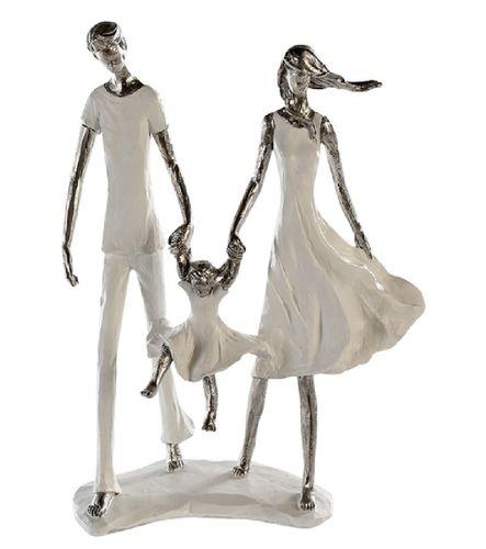 "Skulptur ""Family"" weiß-silber"