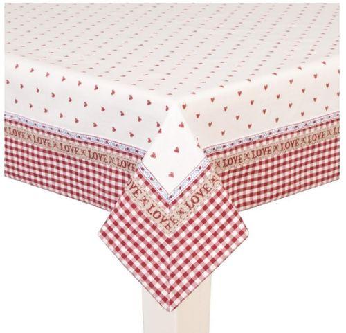 Tischdecke rot Herzen150x150