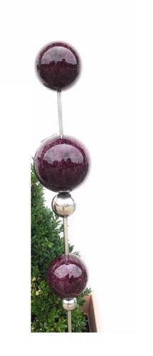 Gartenstecker Globe edelstahl