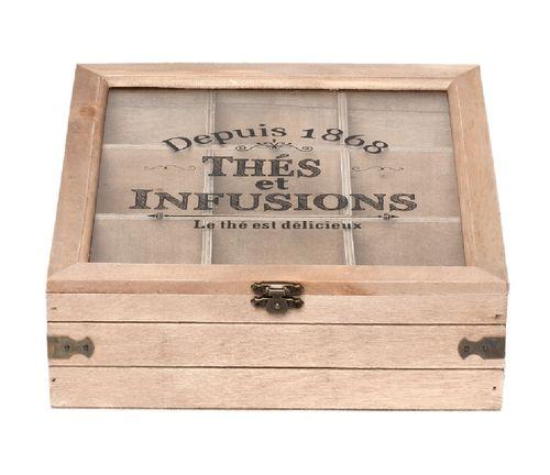 Holz Teebox natur baun