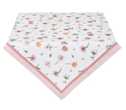 Tischdecke rosa Blumen 130x180