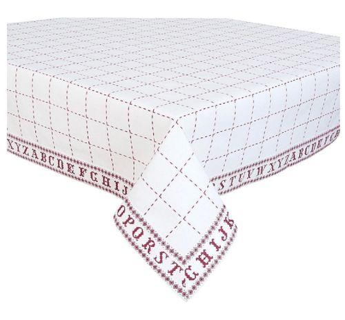 Tischdecke Buchstaben 130x180
