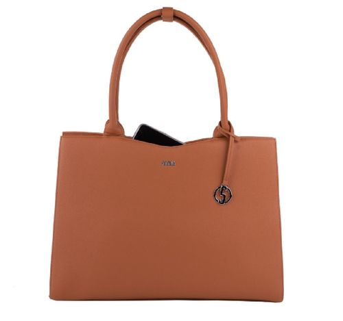 Socha Business Bag Stright Line Cognac 15,6""