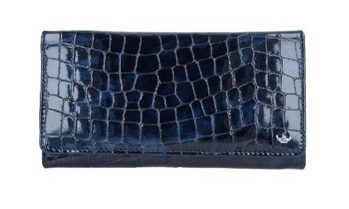 Leder Cayenne Langbörse blau