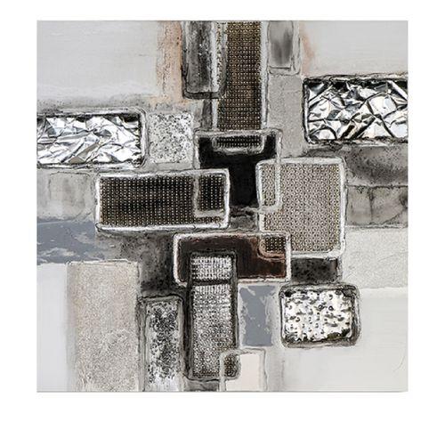 Ölbild Falling Cubes