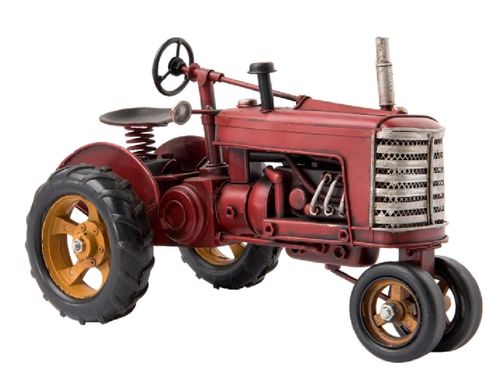 Modell Traktor Metall rot