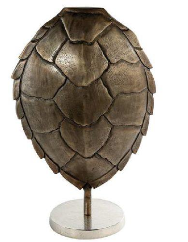 Skulptur Alu Schildkröte brüniert