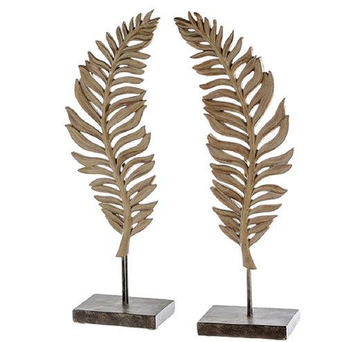 Skulptur Leaf 2er Set 56cm