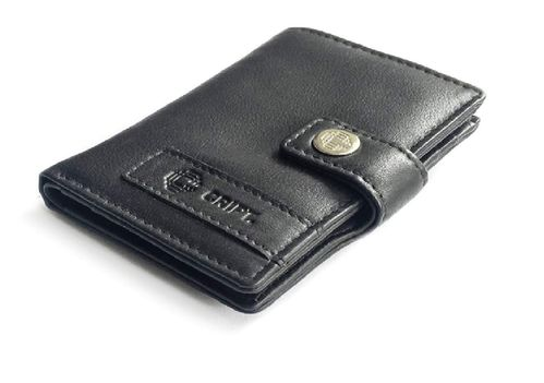 Leder Cript Börse RFID schwarz