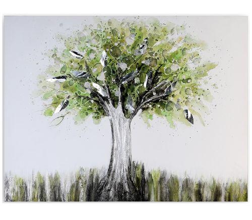 Wandbild Tree of Life grün 70x90 cm